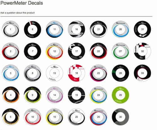 SRM Decal for Powermeter